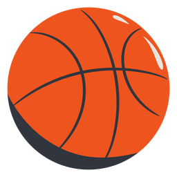 Orange basketball hand drawn