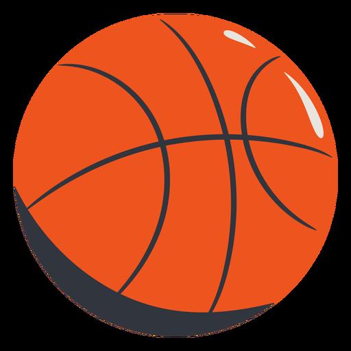 Orange basketball hand drawn Transparent PNG