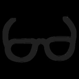 Oval glasses stroke