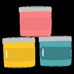 Contenedores de pintura planos