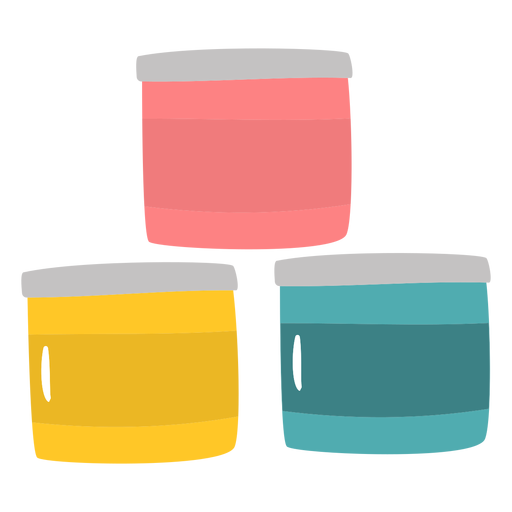 Paint containers flat
