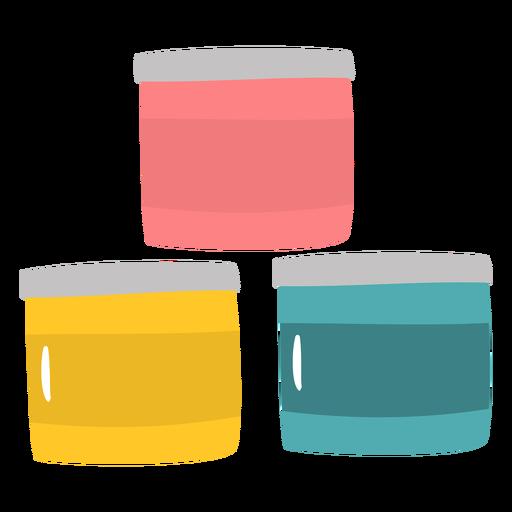 Recipientes de pintura planos