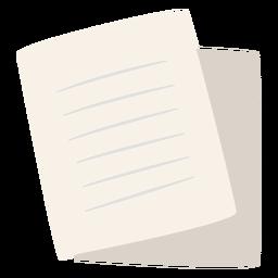 Hojas de papel planas