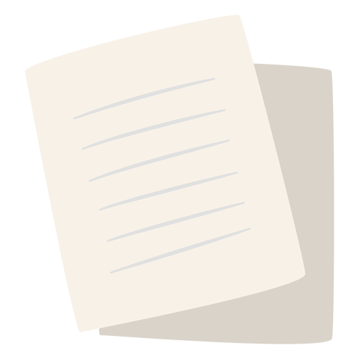 Paper sheets flat