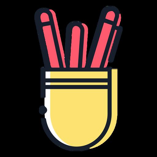 Pen cup stroke icon Transparent PNG