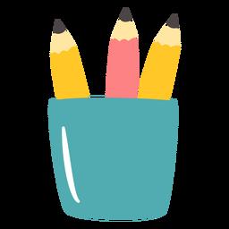 Vaso de lápiz plano