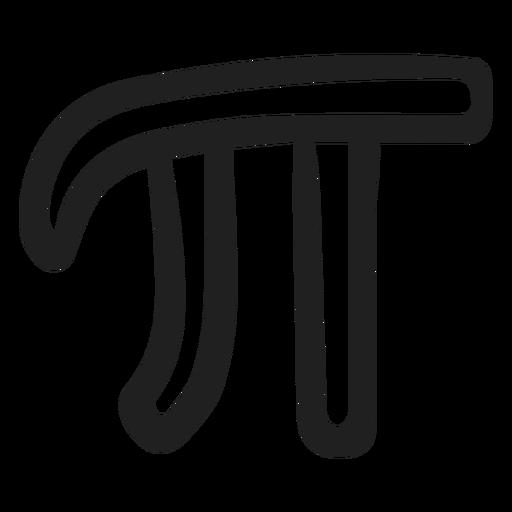Pi icon doodle