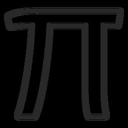 Pi icon stroke