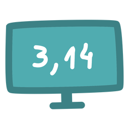 Pi number on screen