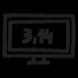 Pi Number On Screen Transparent Png Svg Vector File
