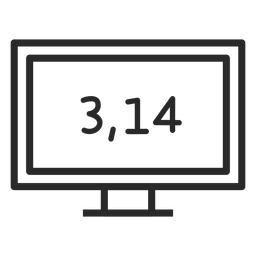 Pi number on screen stroke