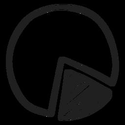 Doodle de gráfico circular