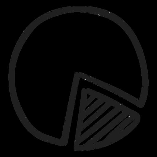 Pie chart doodle Transparent PNG