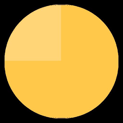 Pie chart flat Transparent PNG