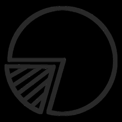 Pie chart stroke Transparent PNG