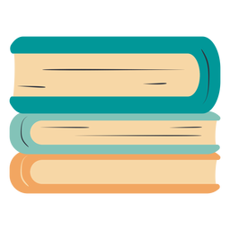 Libros apilados dibujados a mano