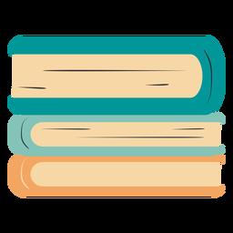 Livros empilhados mão desenhada