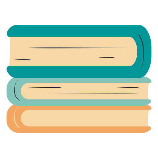 Piled books hand drawn Transparent PNG