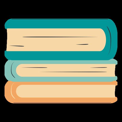 Piled books hand drawn