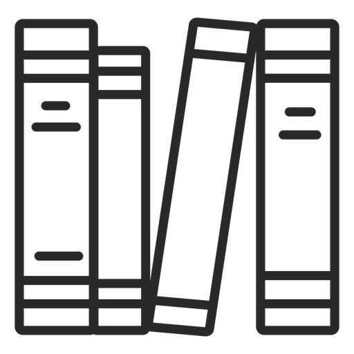 Piled books stroke piled Transparent PNG