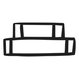 Curso horizontal empilhado de livros