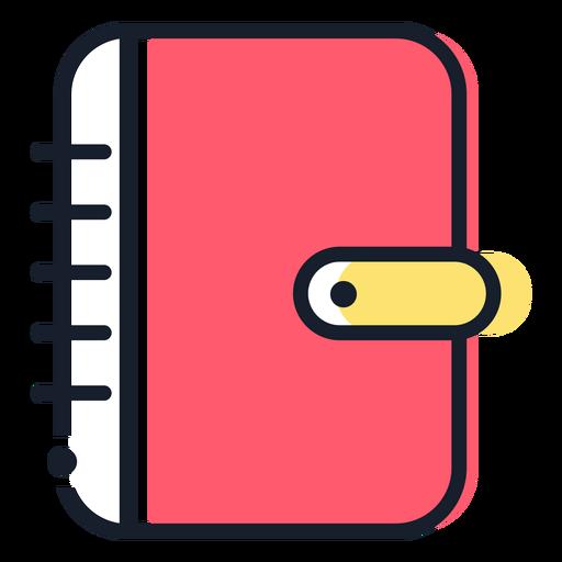 Icono de trazo de agenda rosa