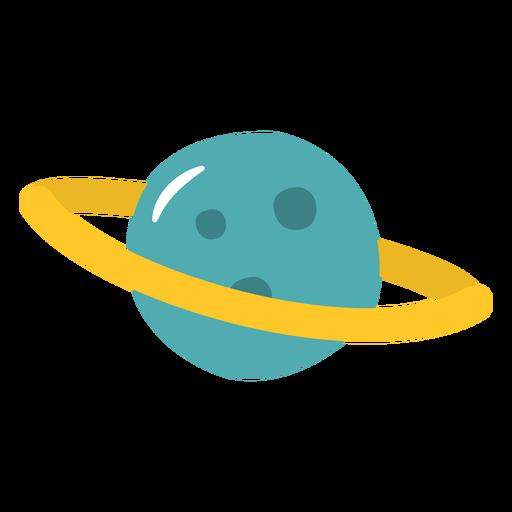 Planet saturn flat