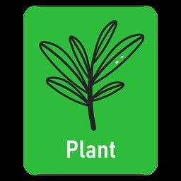Pflanzen Sie eine grüne Karteikarte