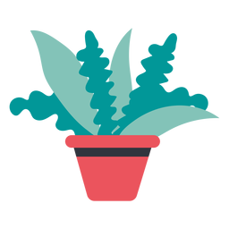 Pflanze im Topf handgezeichnet