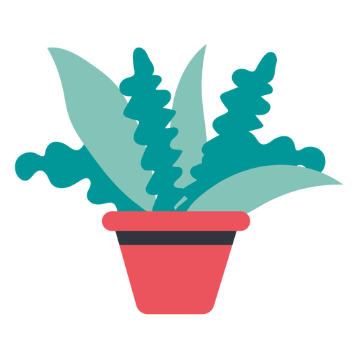 Plant in pot hand drawn