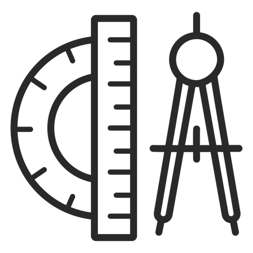 Protractor and compass stroke