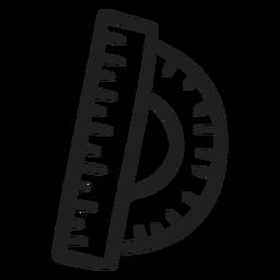 Doodle de regla de transportador