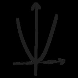 Quadratic function graph doodle