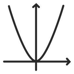 Quadratic function graph stroke