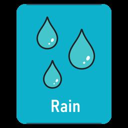 Flashcard de lluvia azul claro