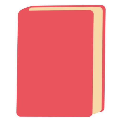 Dibujado a mano libro rojo