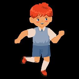 Personaje de cabeza roja chico corriendo