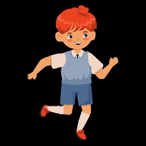 Personaje corriente de chico cabeza roja