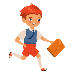 Red head boy suitcase character