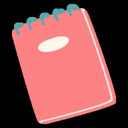 Caderno vermelho liso vermelho