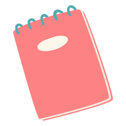 Cuaderno rojo plano rojo