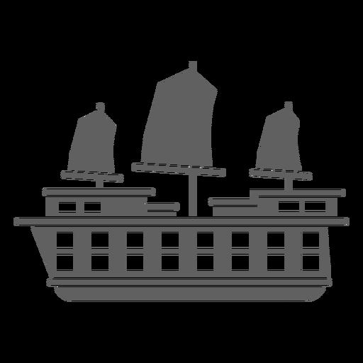 Red sail caravel black