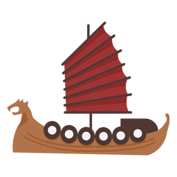 Red sail shield ship