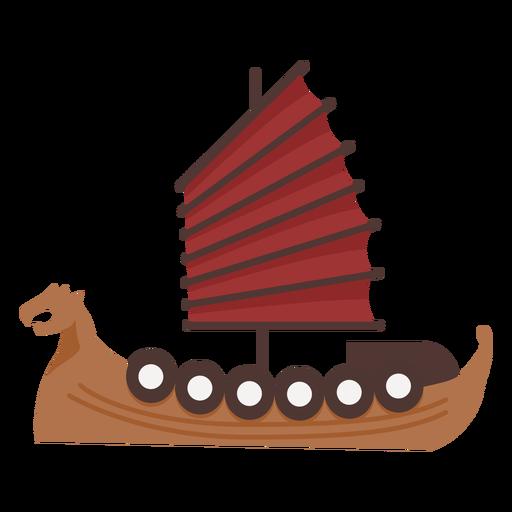 Red sail shield ship