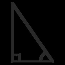 Right triangle stroke