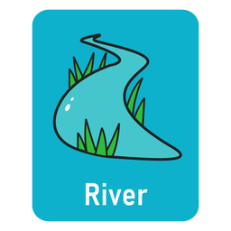 River blue flashcard