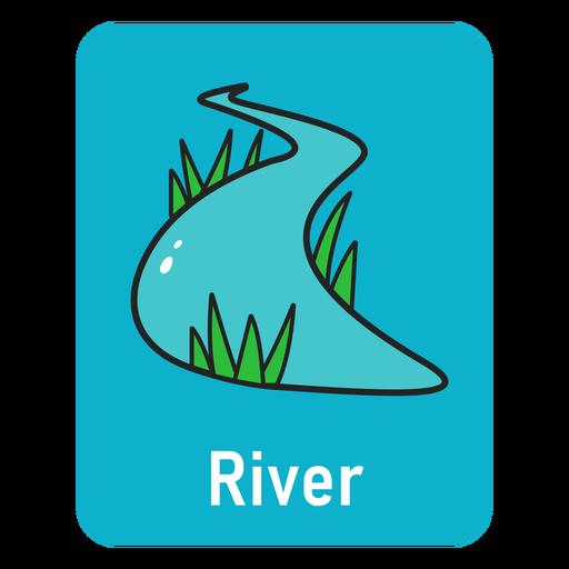 River blue flashcard