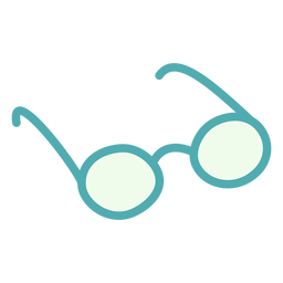 Gafas redondas planas