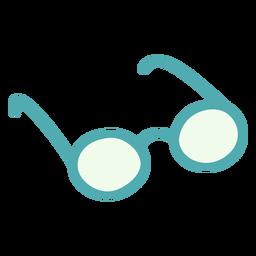 Round glasses flat
