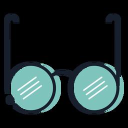 Icono de trazo de gafas redondas
